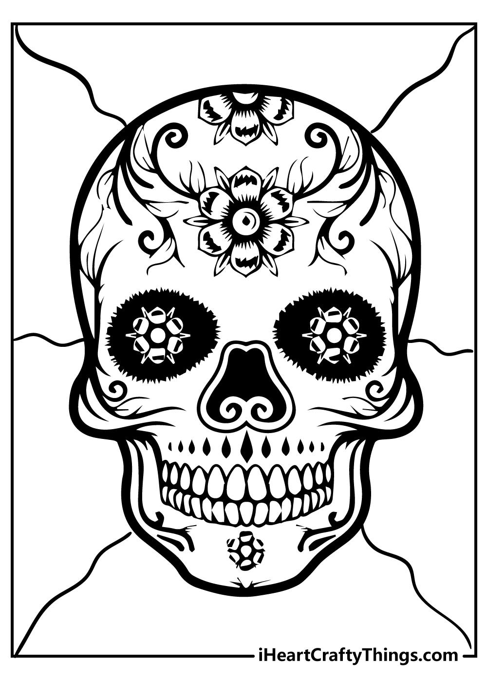 Halloween  sugar skull coloring pages free printable