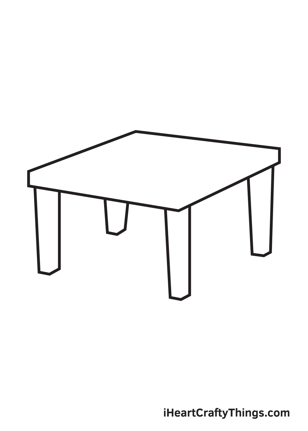 table drawing step 6