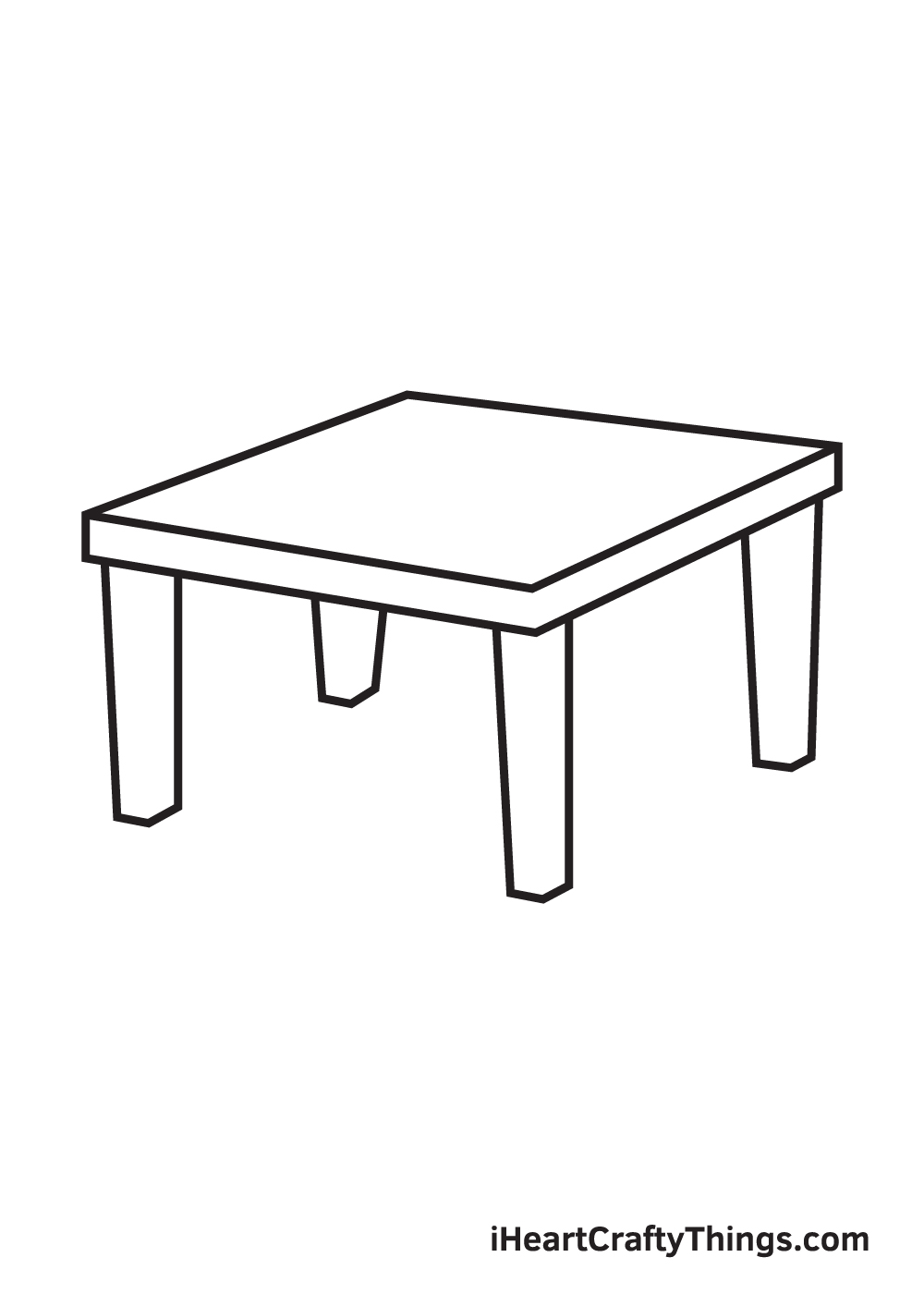 table drawing step 7
