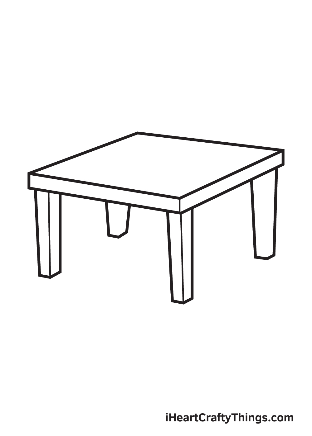 table drawing step 8