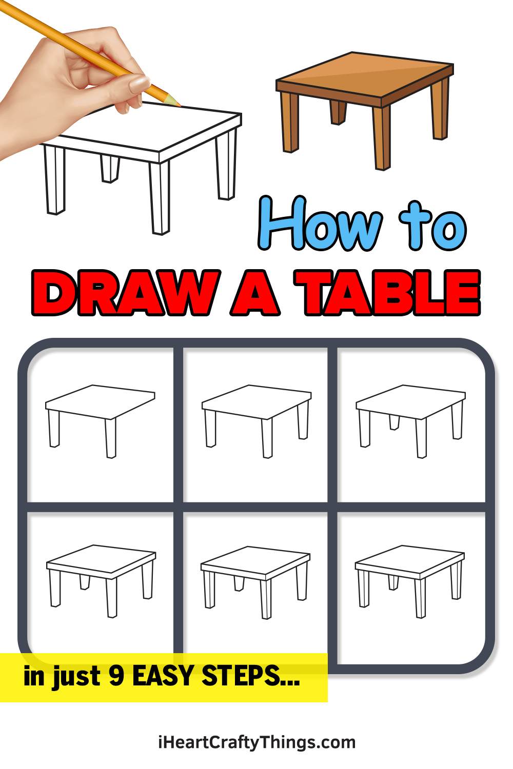 how to draw a table in 9 easy steps