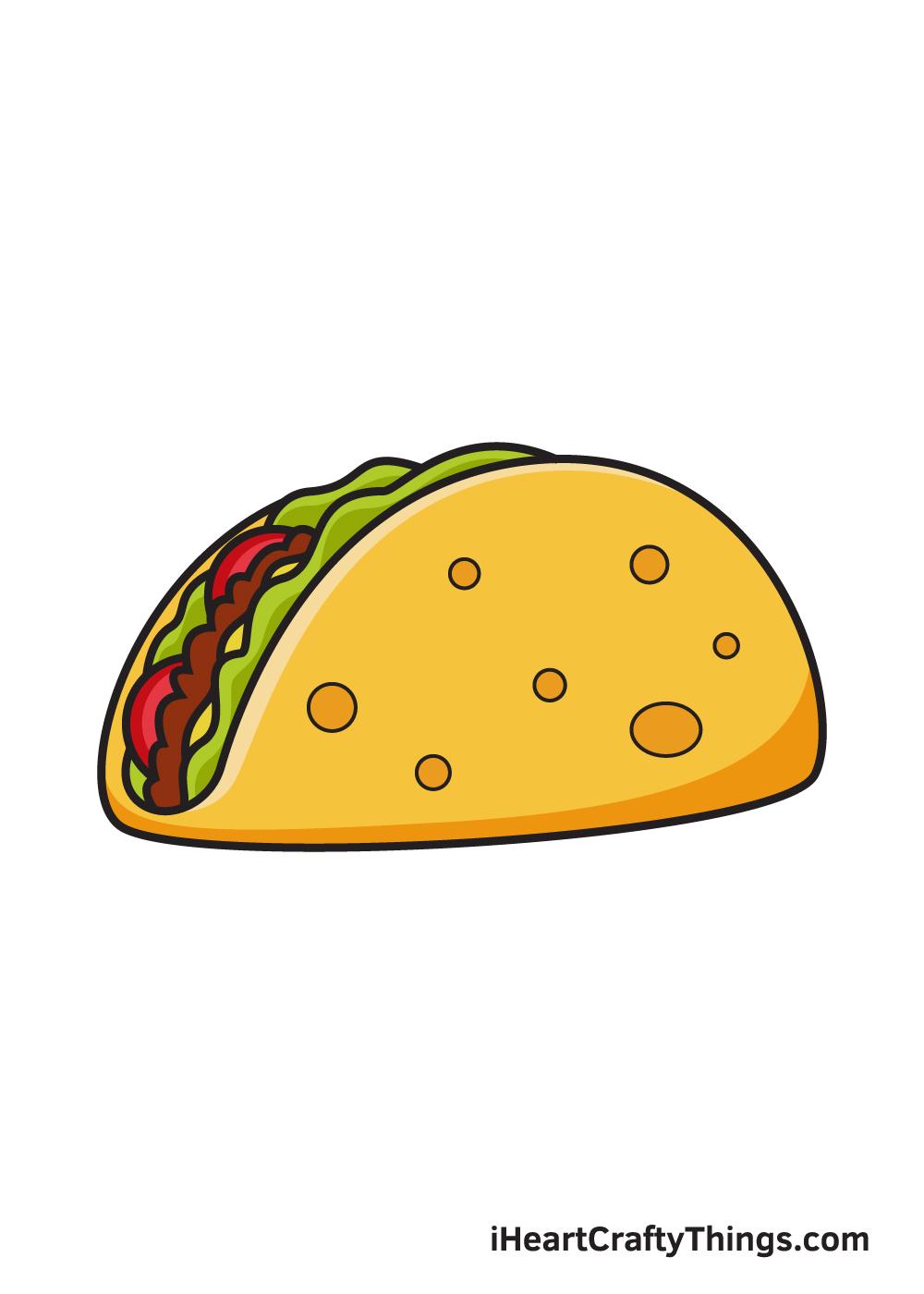 taco drawing 9 steps