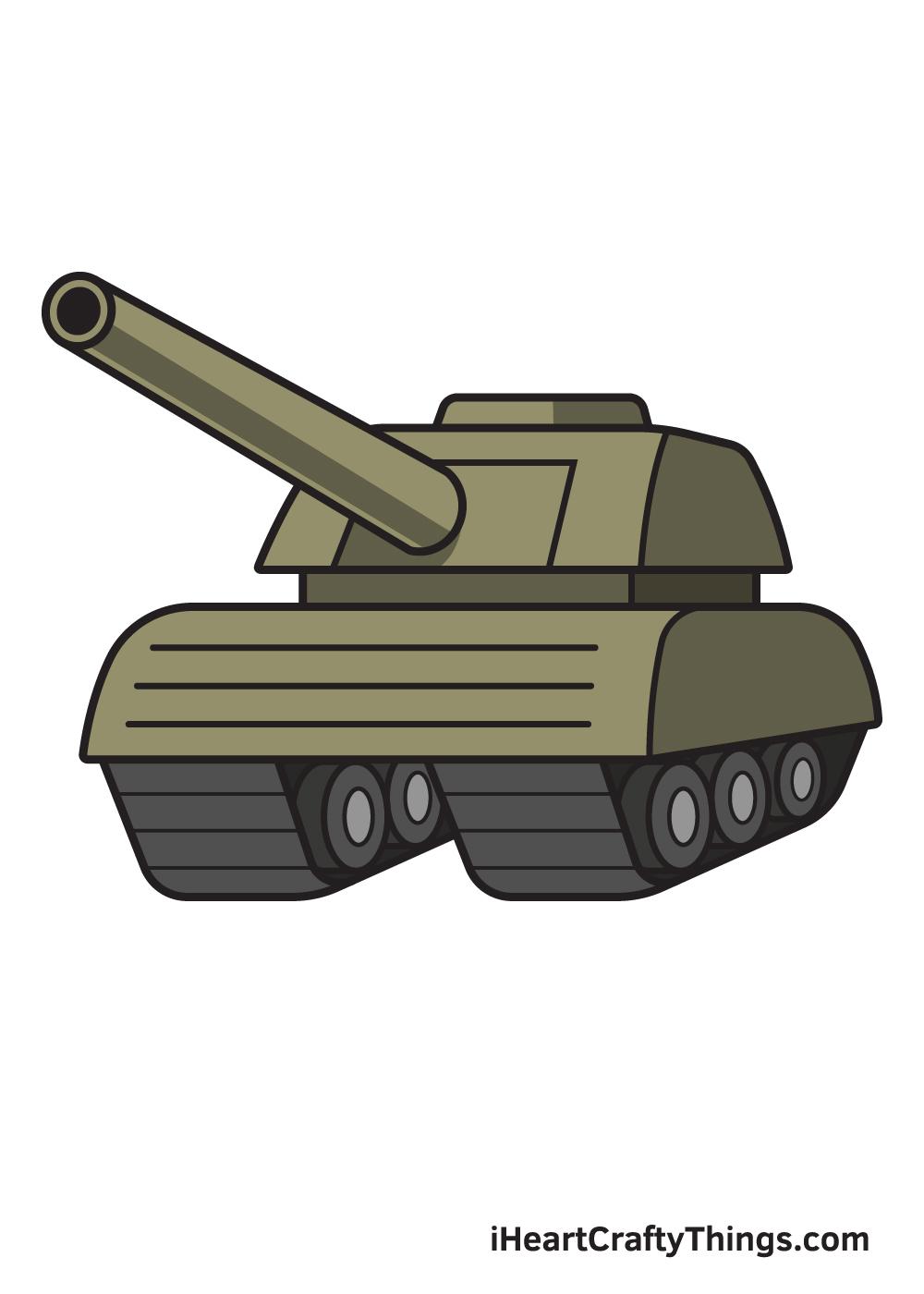 tank drawing 9 steps