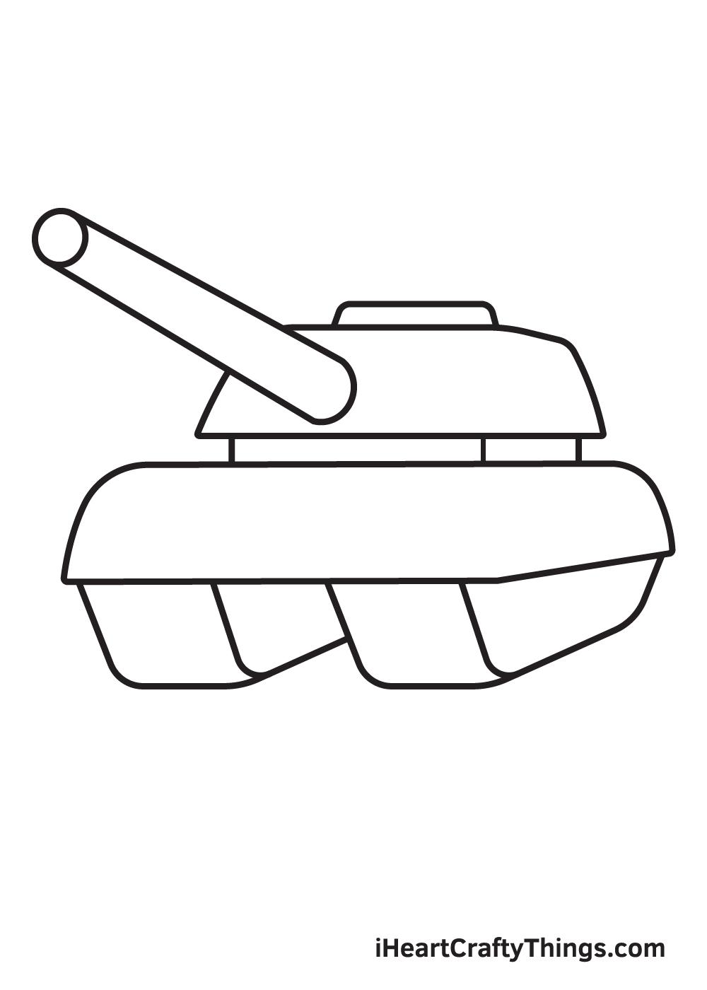 tank drawing step 6