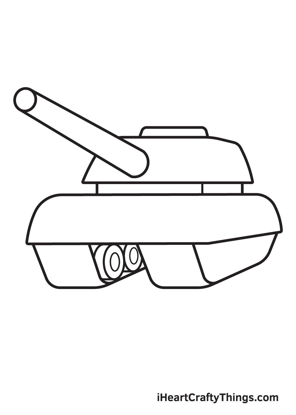 tank drawing step 7