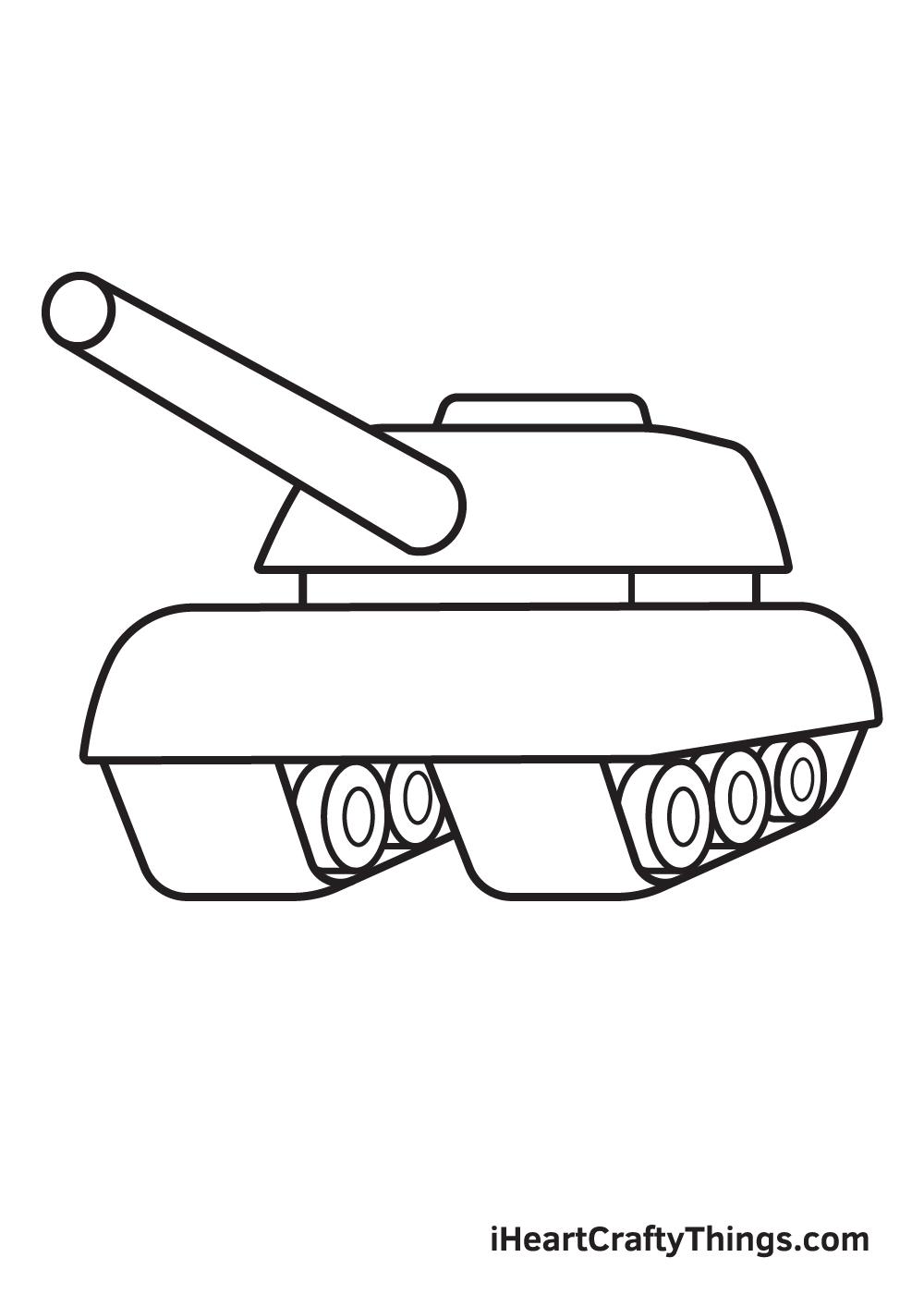 tank drawing step 8