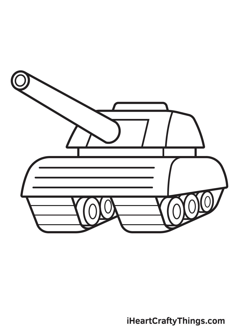 tank drawing step 9