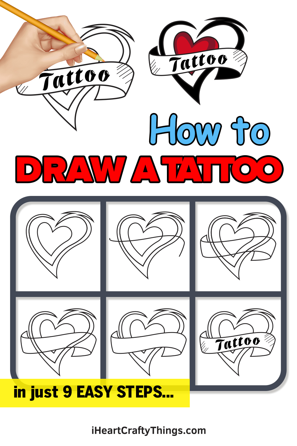 how to draw a tattoo in 9 easy steps