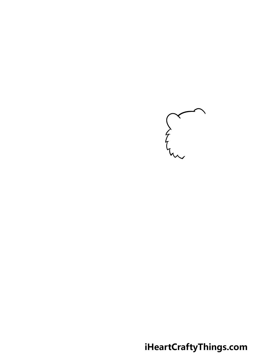 drawing tiger step 1