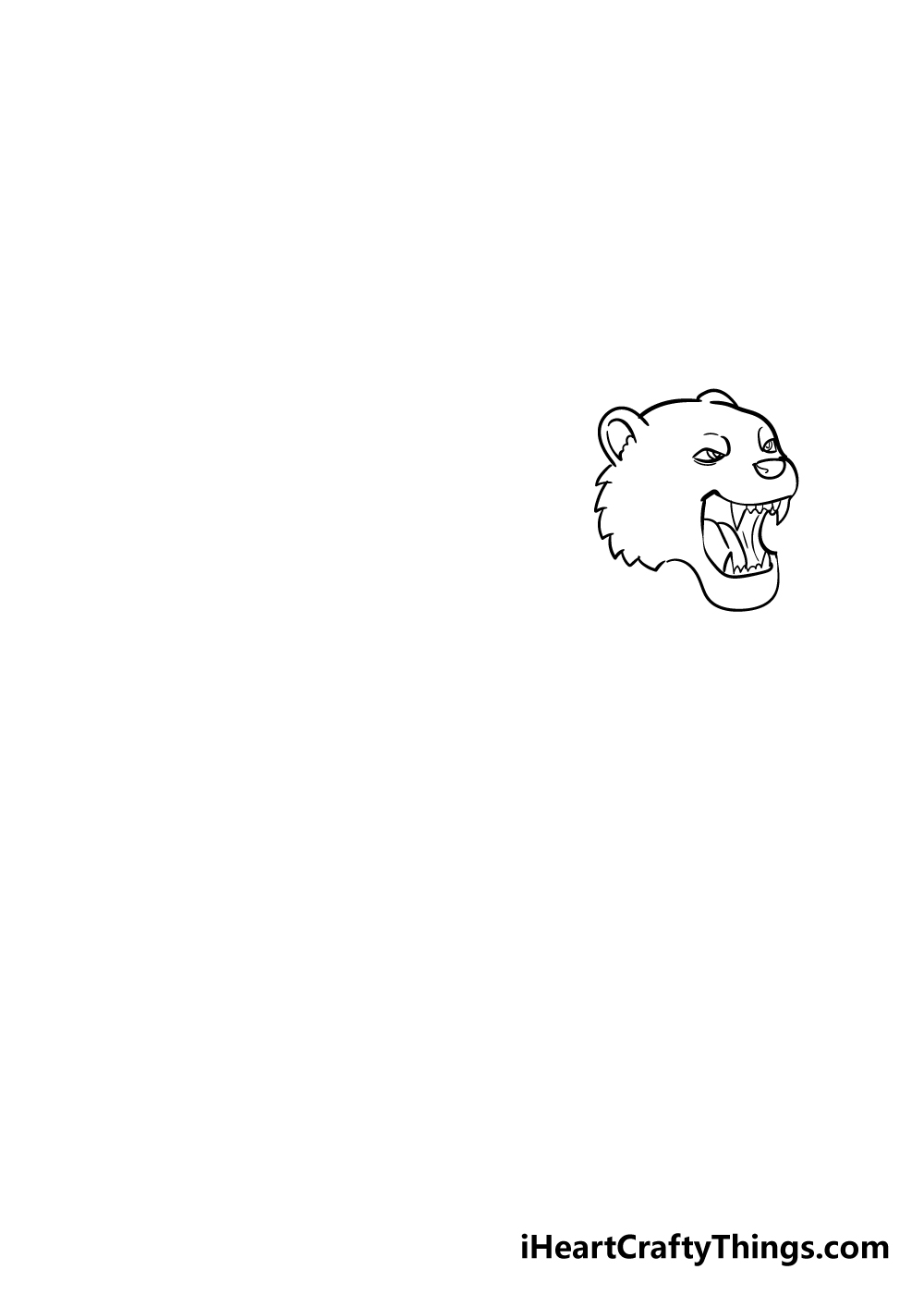drawing tiger step 3