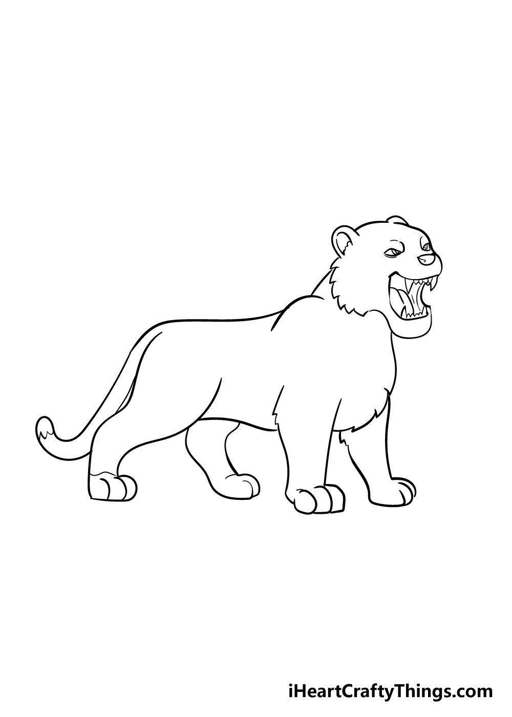 drawing tiger step 6