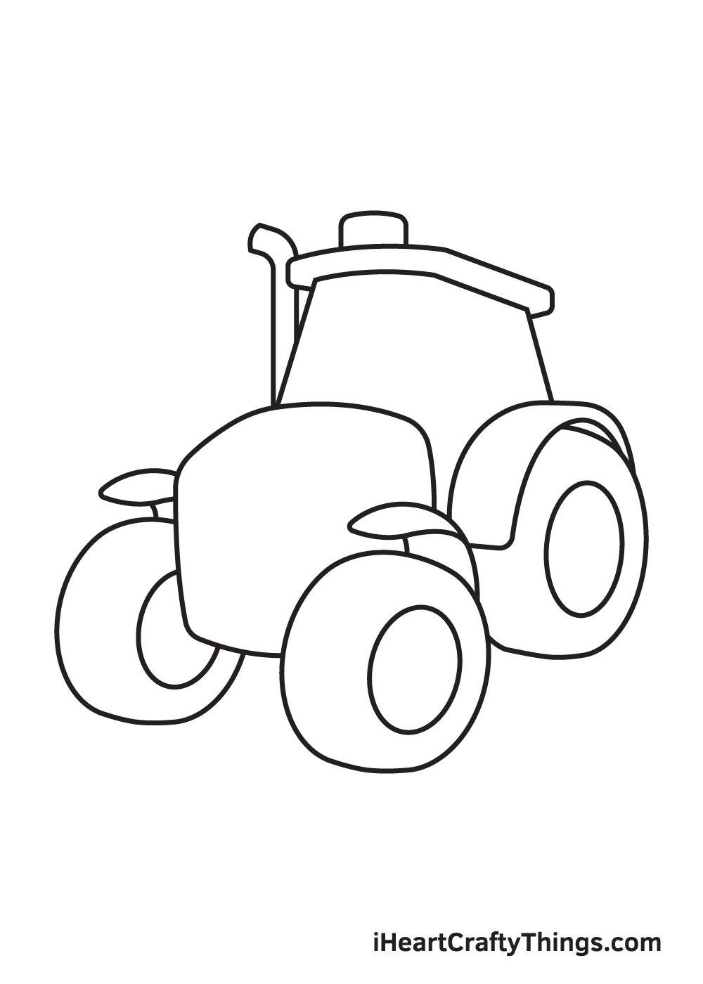 tractor drawing step 6