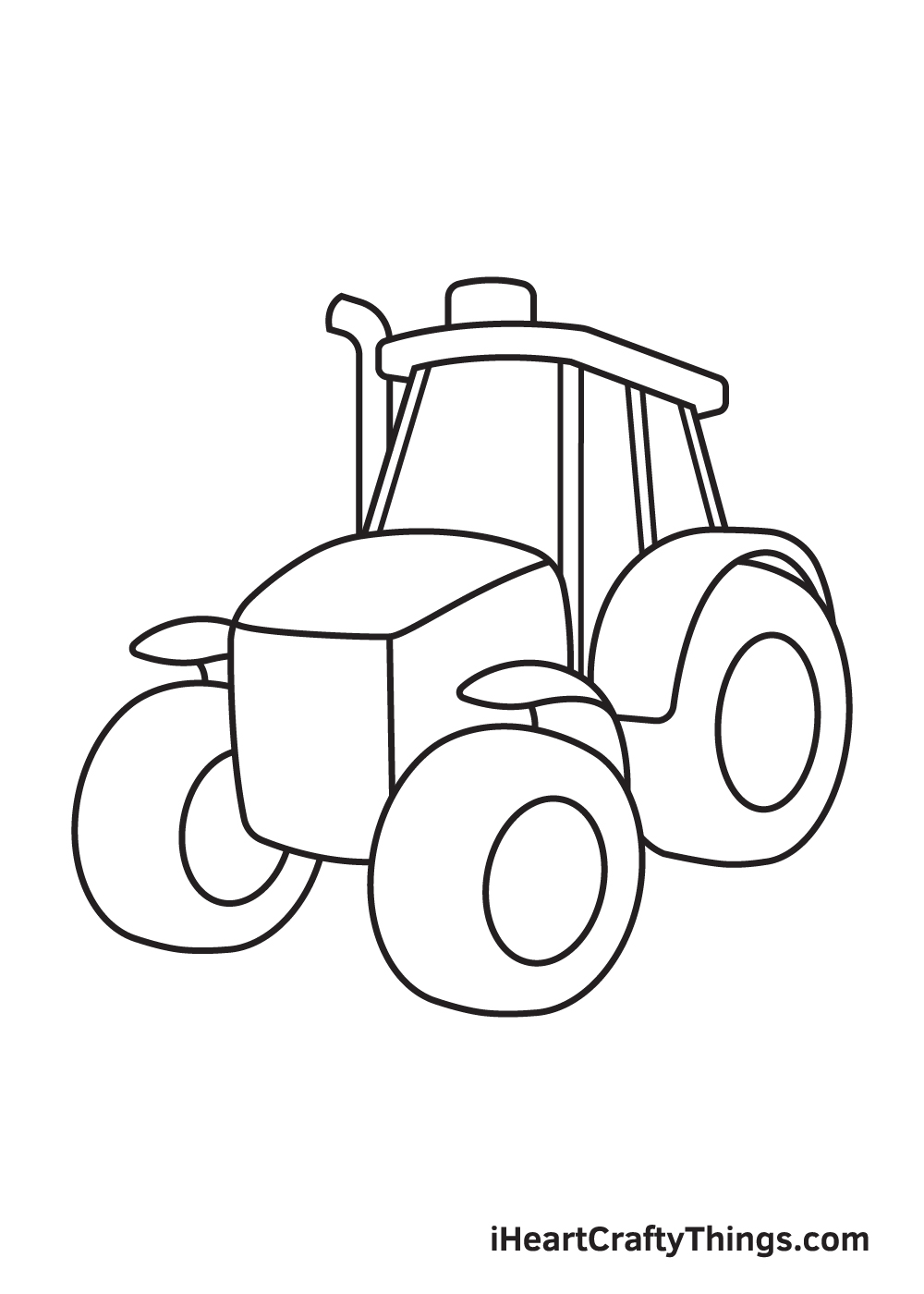 tractor drawing step 7