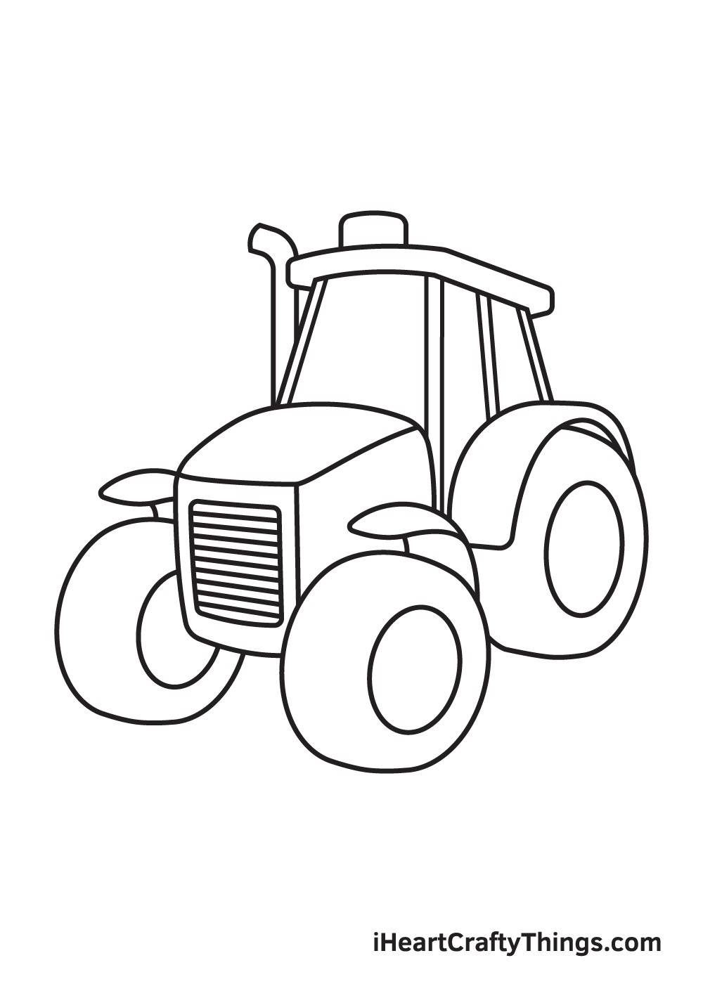 tractor drawing step 8