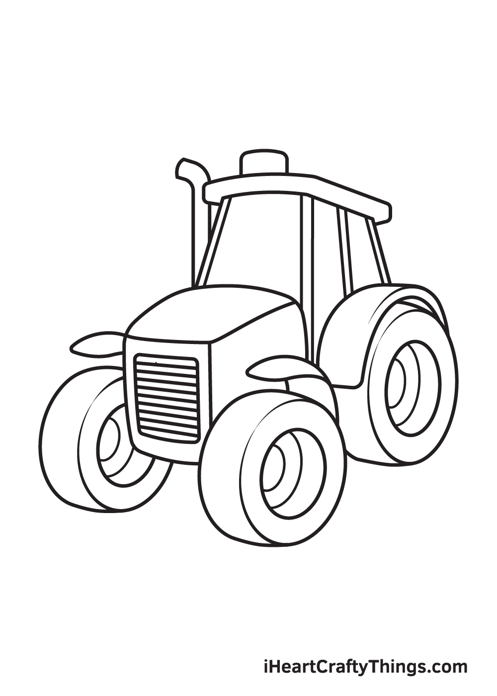 tractor drawing step 9