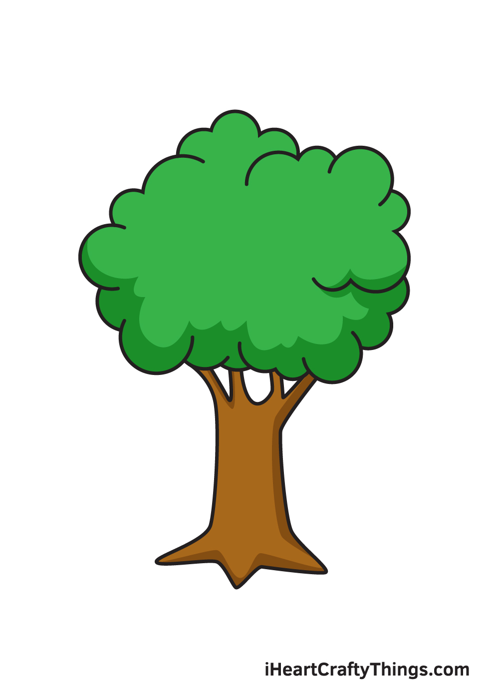 tree drawing 9 steps