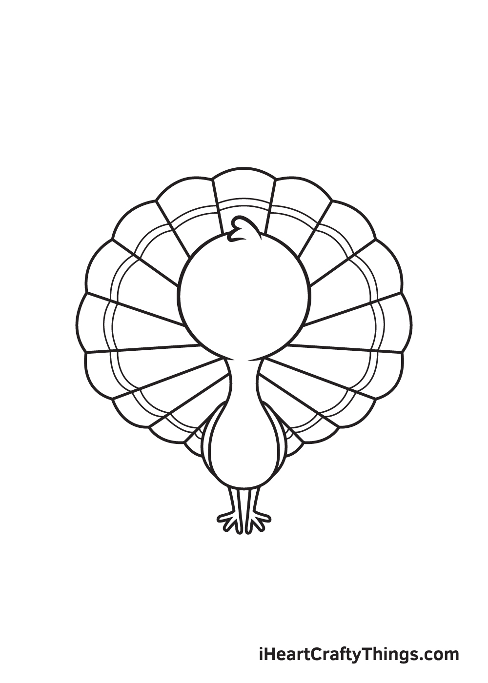 turkey drawing step 8
