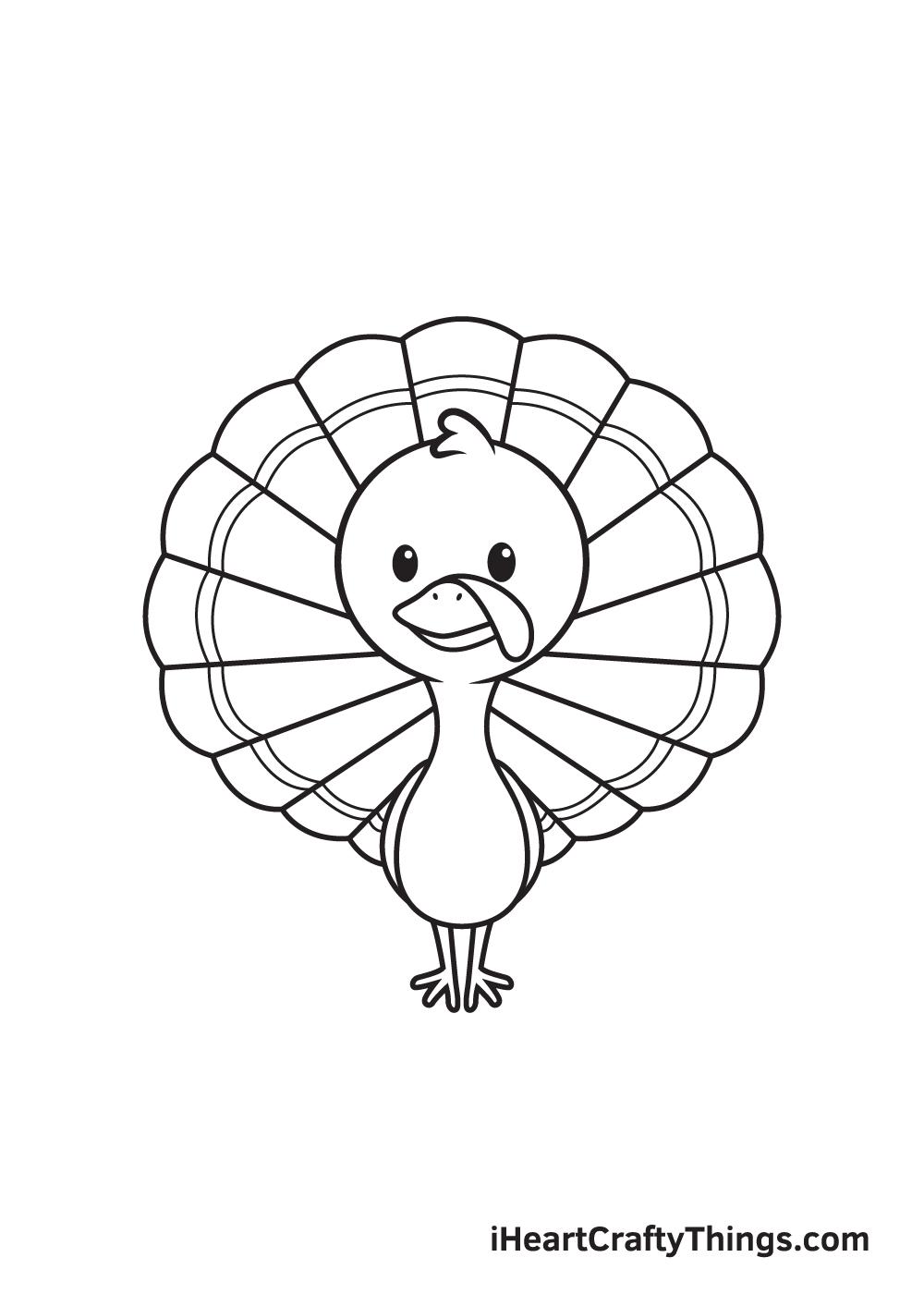 turkey drawing step 9