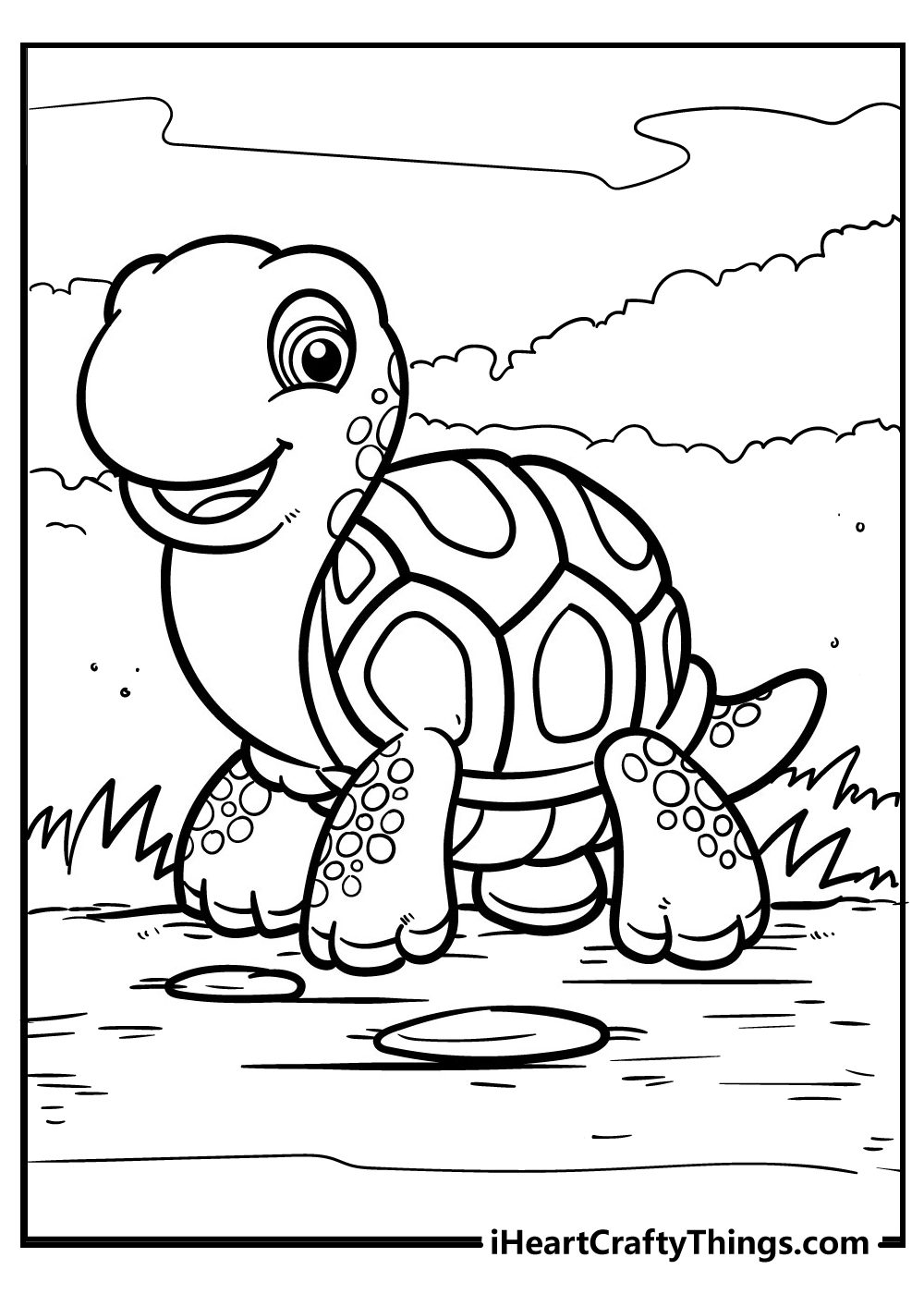 new turtle coloring pages free printable