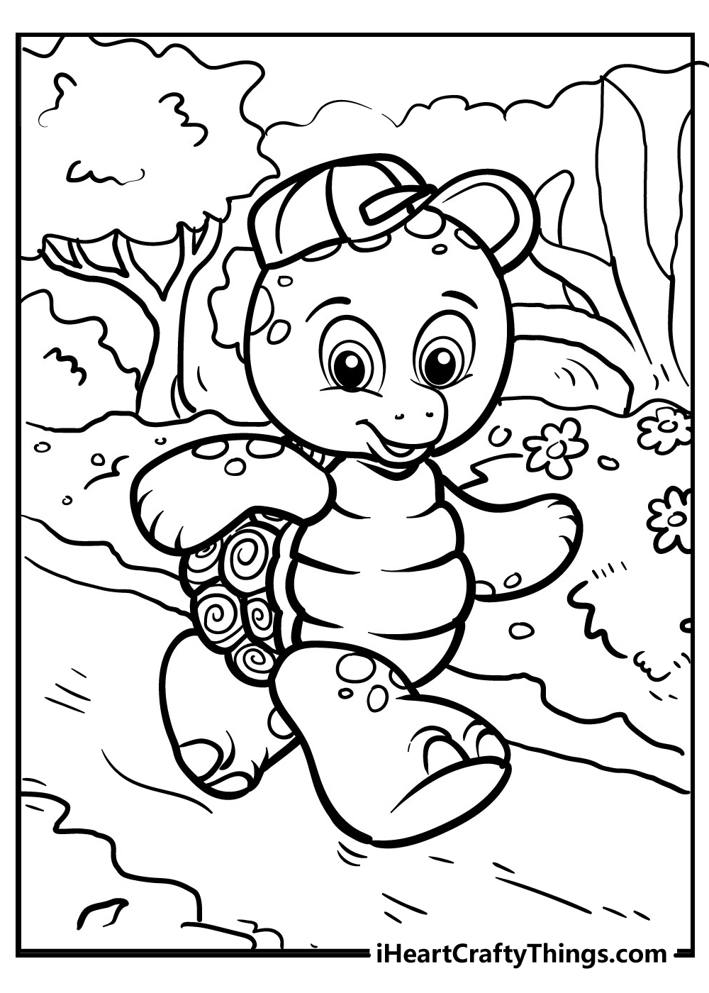 cartoon turtle coloring pages free printable