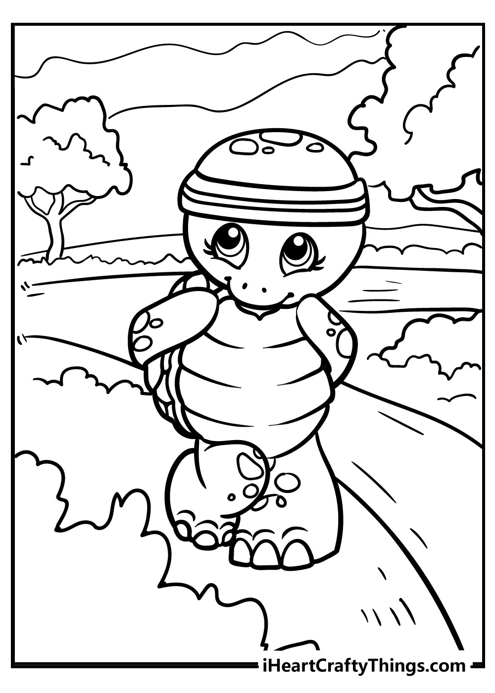 cute turtle coloring pages free printable