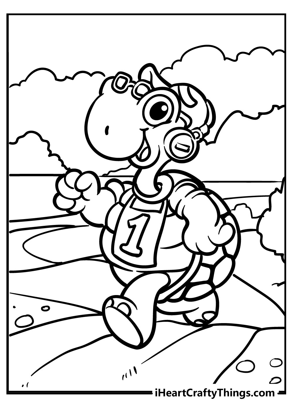 art turtle coloring pages for kids free printable