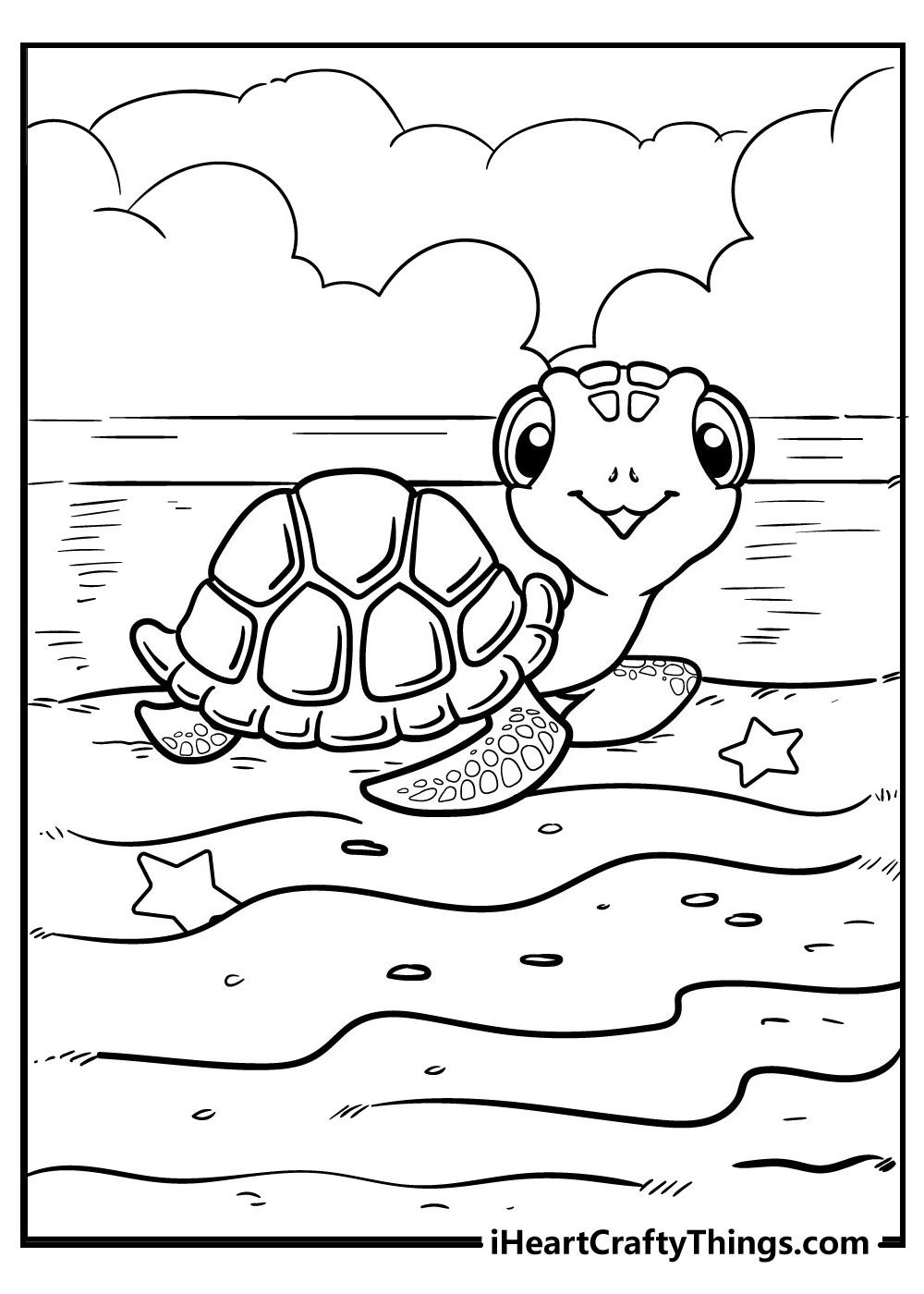 turtle coloring pages free printable