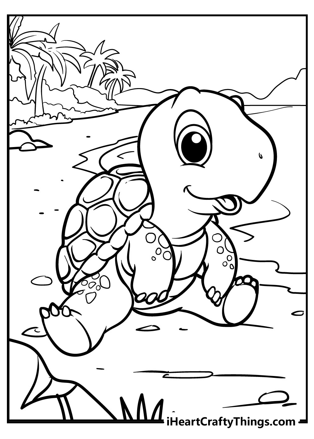 baby turtle coloring book free printable