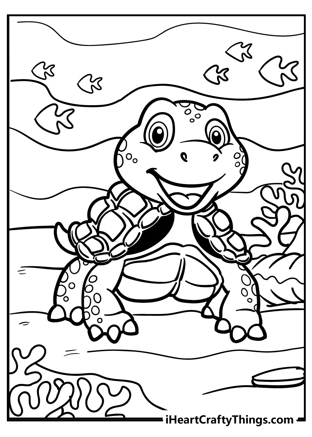 turtle coloring pages for kids free printable