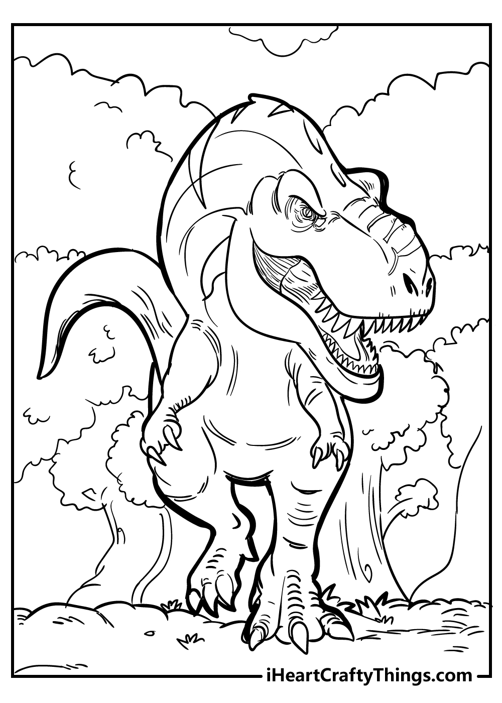 new tyrannosaurus coloring pages free printable