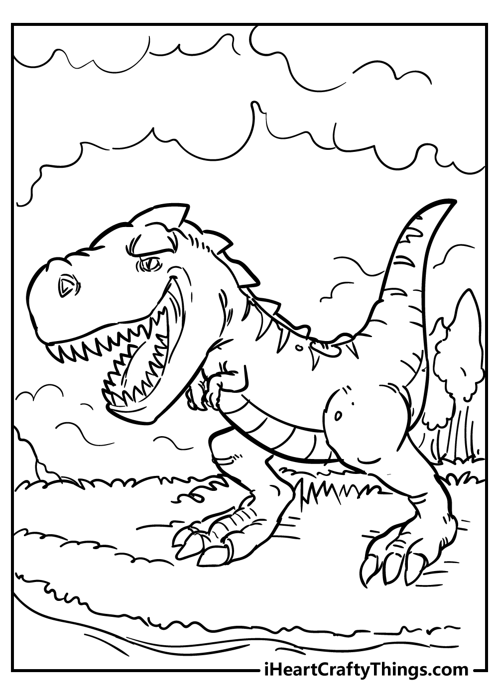 jurassic park tyrannosaurus coloring printable free pdf
