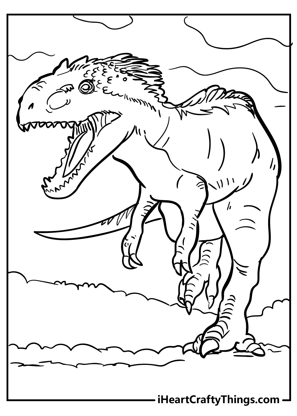 jurassic world t-rex coloring pages free printable