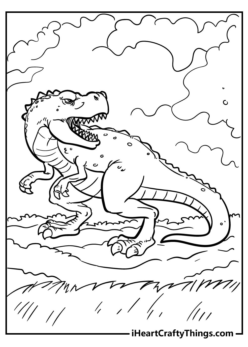 jurassic world t-rex coloring book free printable
