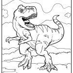 Tyrannosaurus coloring image free printable