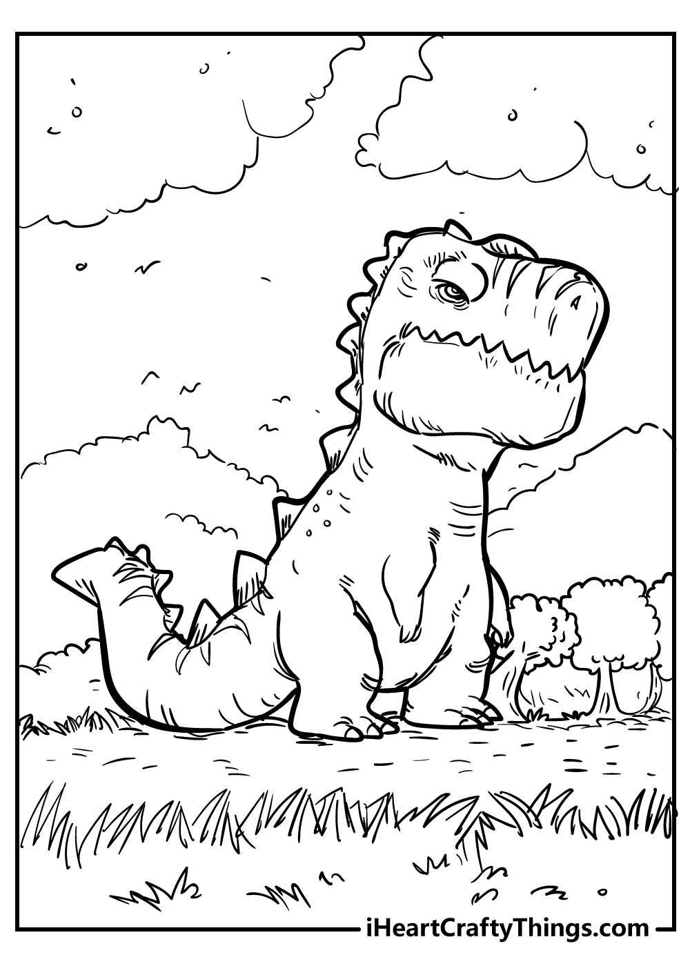 scary tyrannosaurus coloring pages free printable