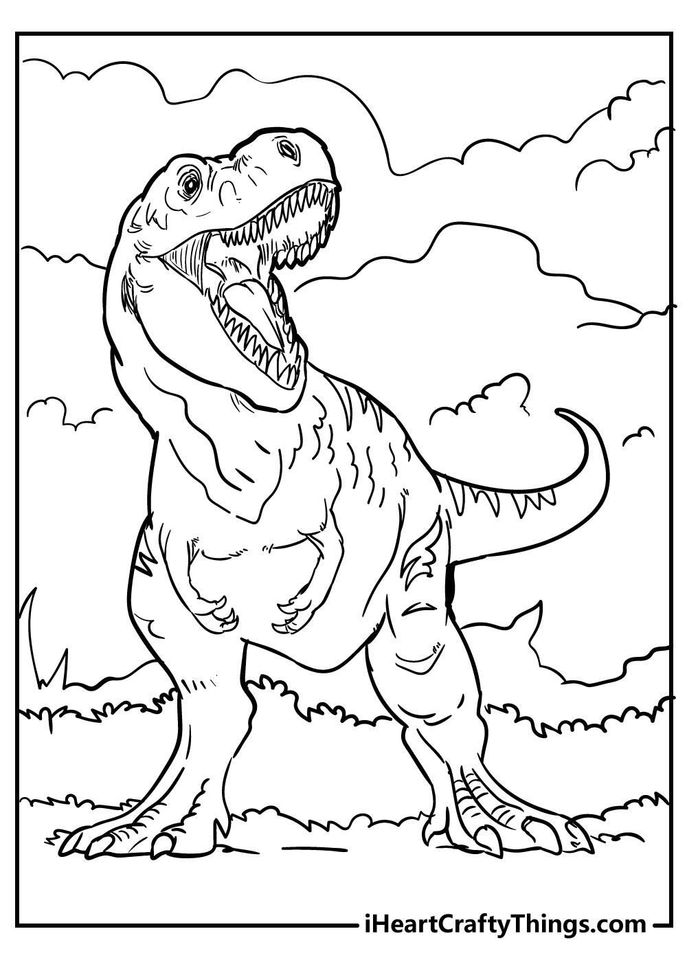 Tyrannosaurus coloring page