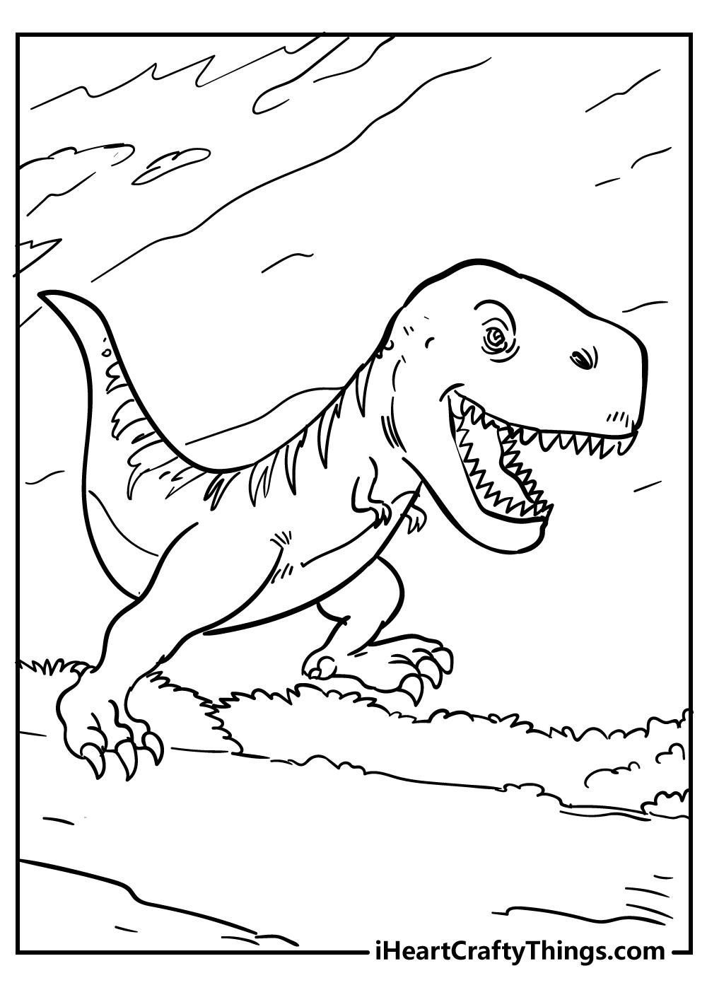 Tyrannosaurus coloring book free printable