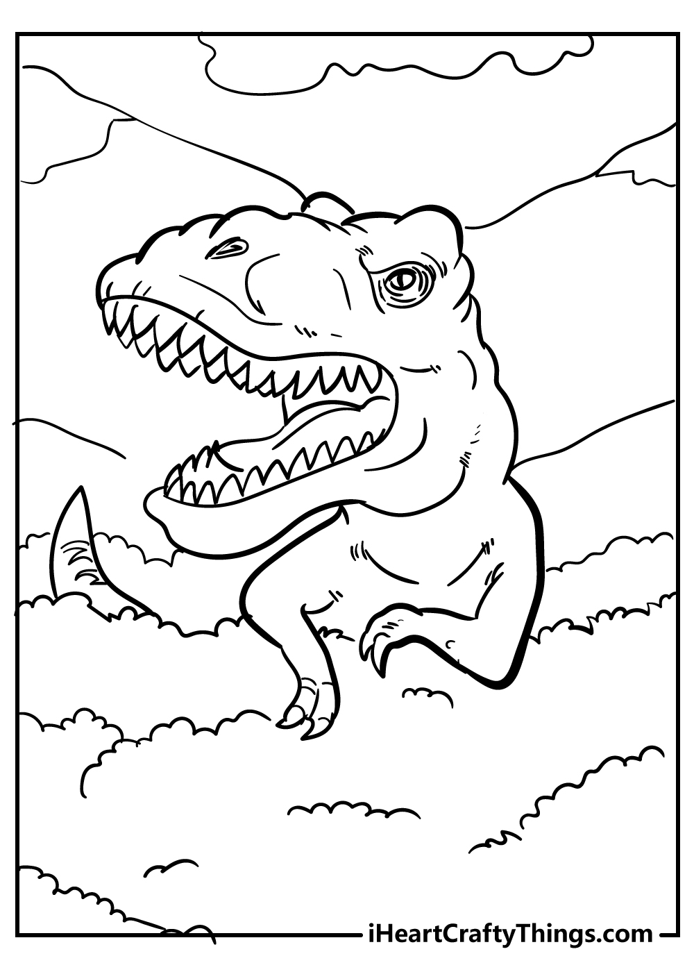 t-rex drawing coloring book free download