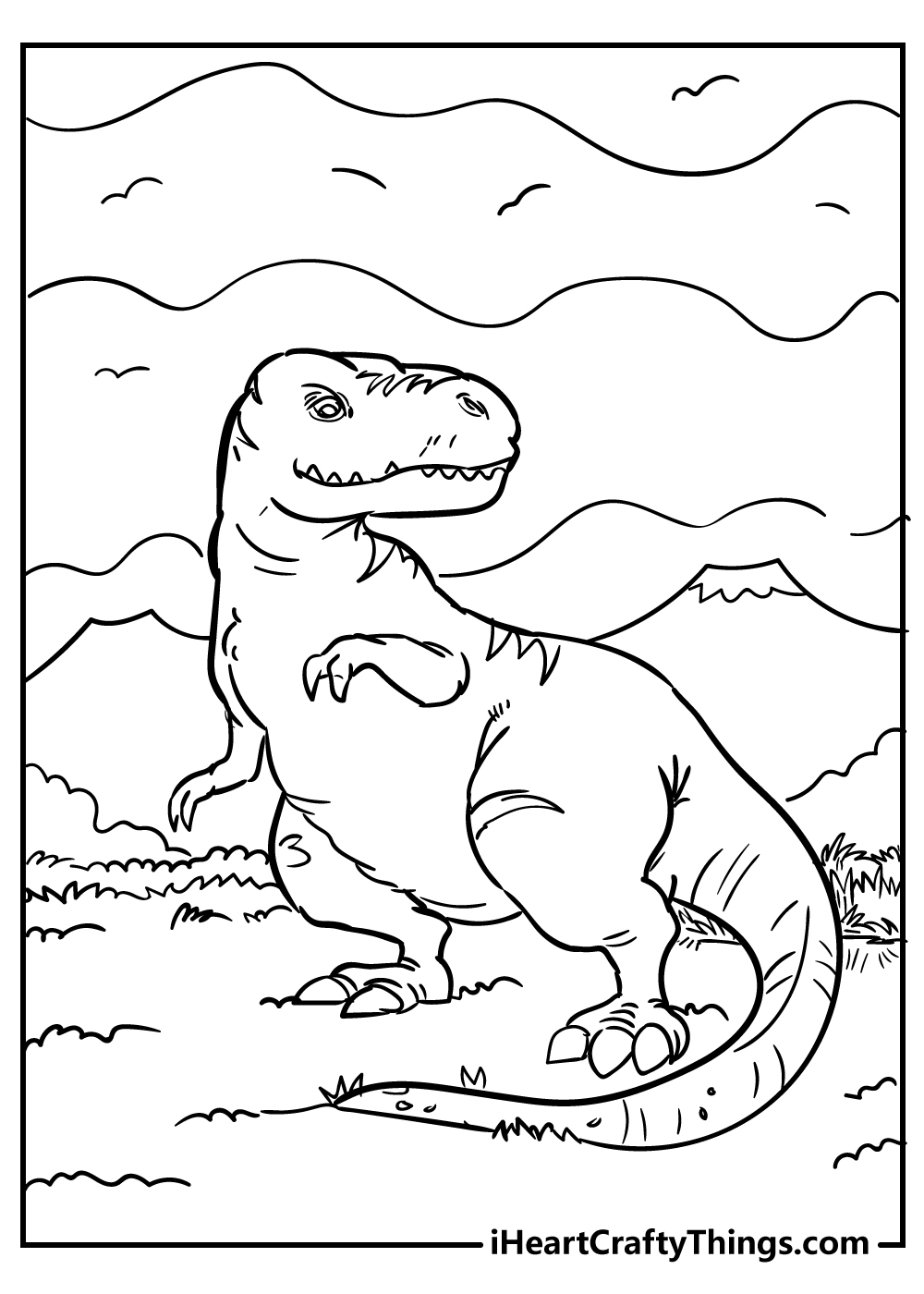 tyrannosaurus coloring book for adults free printable