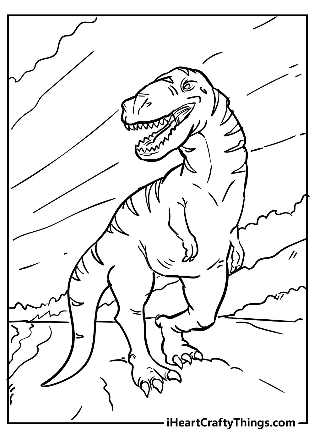 cartoon tyrannosaurus coloring pages free printable