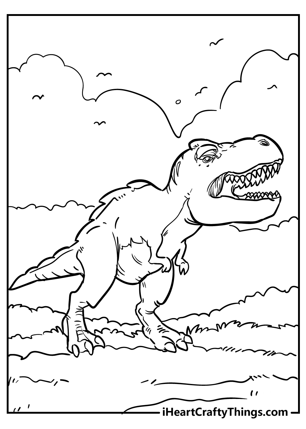 jurassic park tyrannosaurus coloring pages for adults free printable