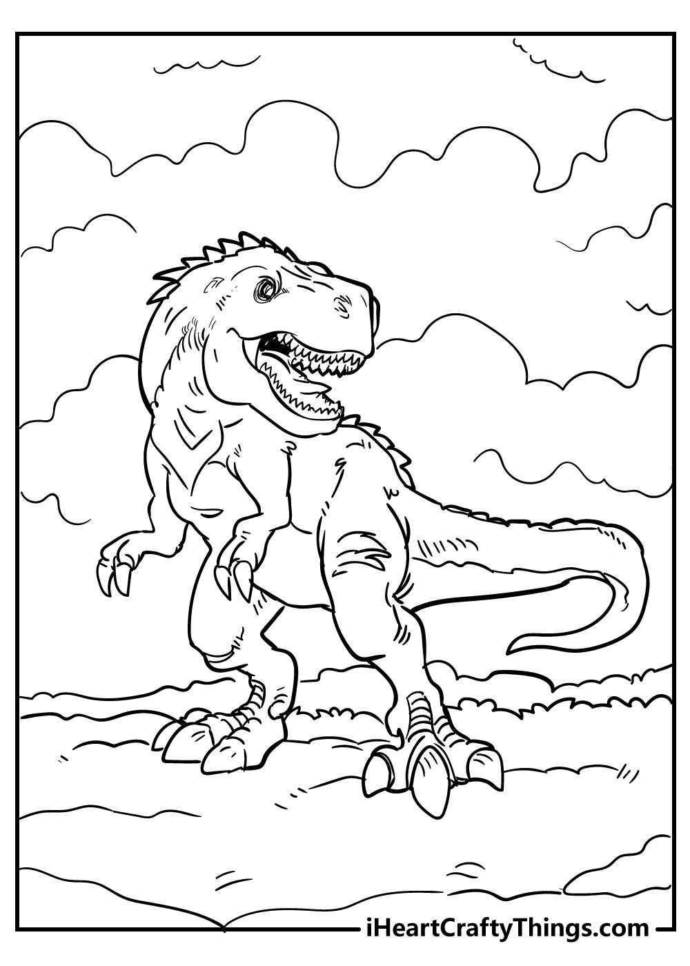 jurassic park tyrannosaurus coloring pages free printable