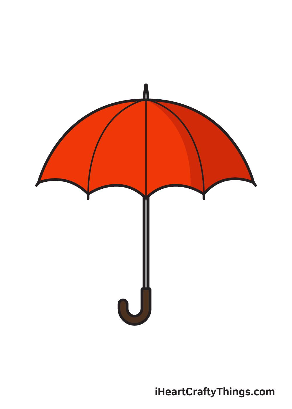 umbrella drawing 9 steps