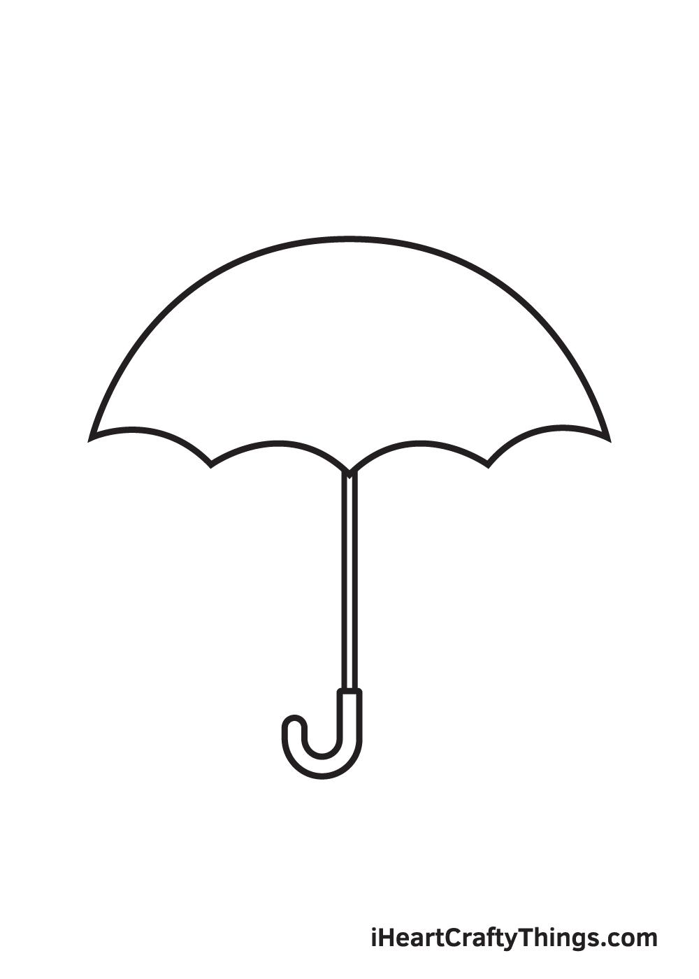 umbrella drawing step 7