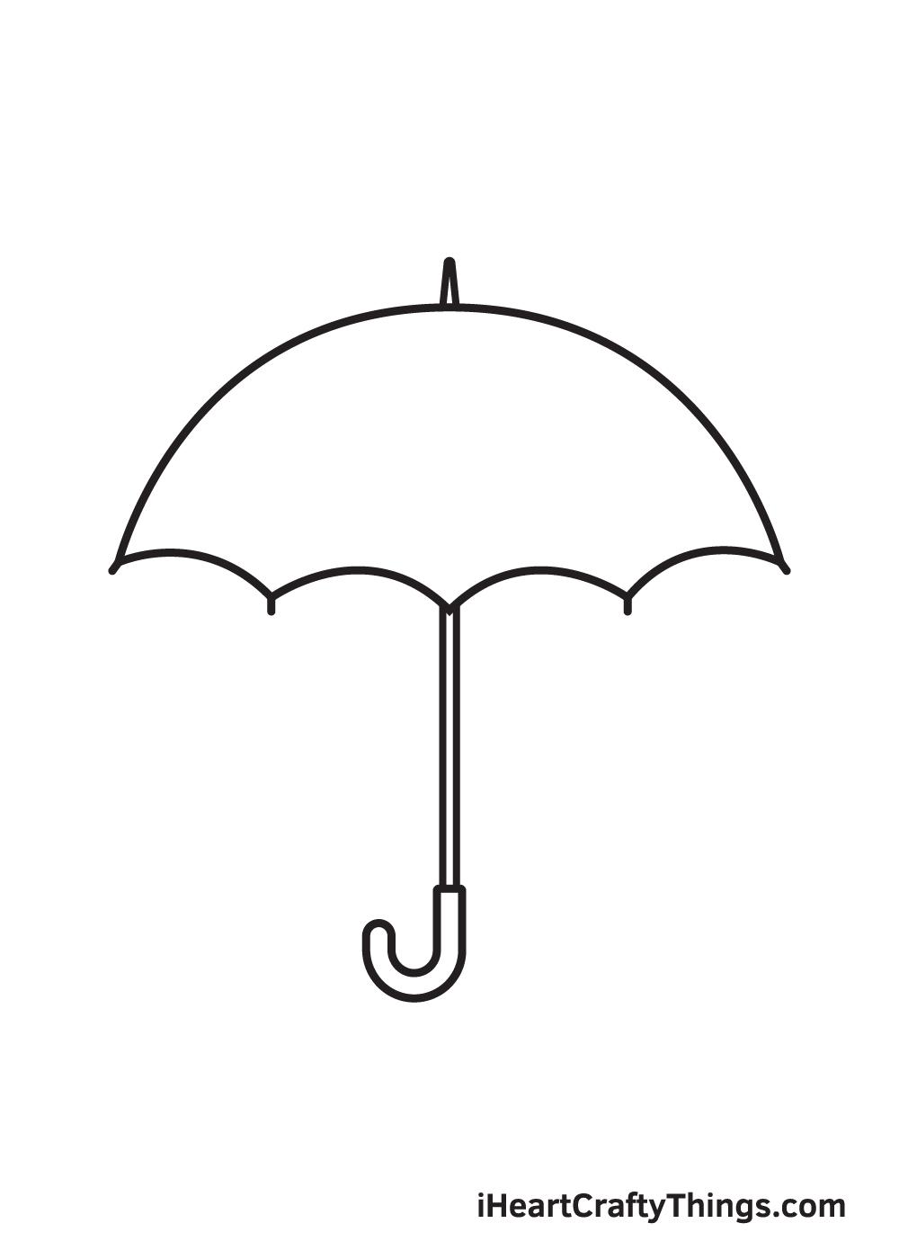 umbrella drawing step 8