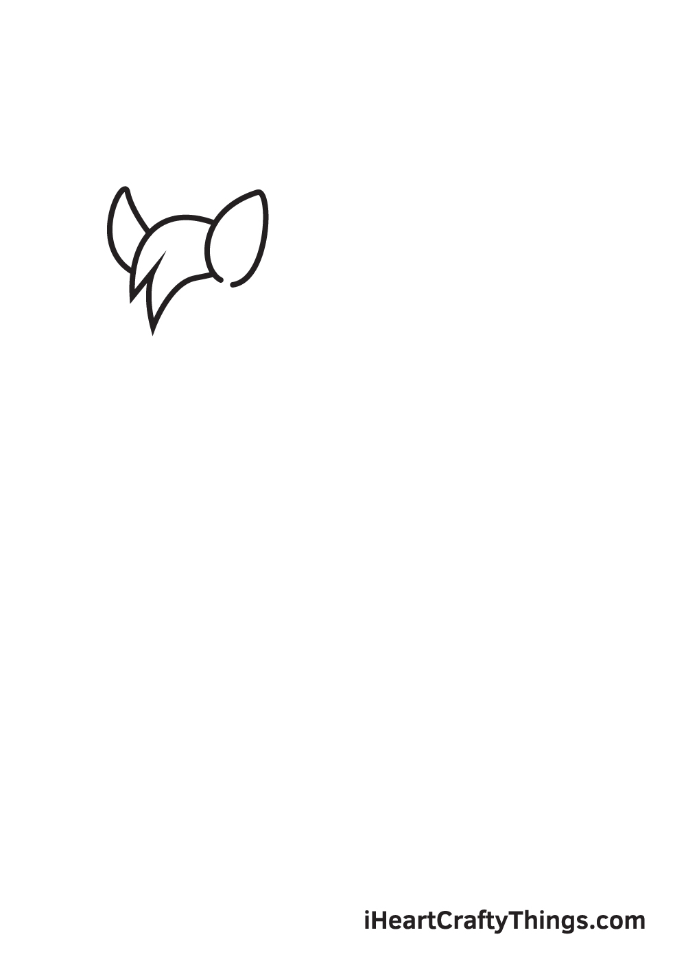 unicorn drawing step 1