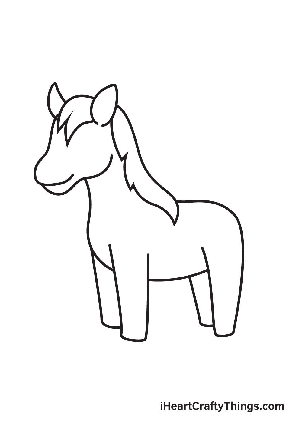 unicorn drawing step 6