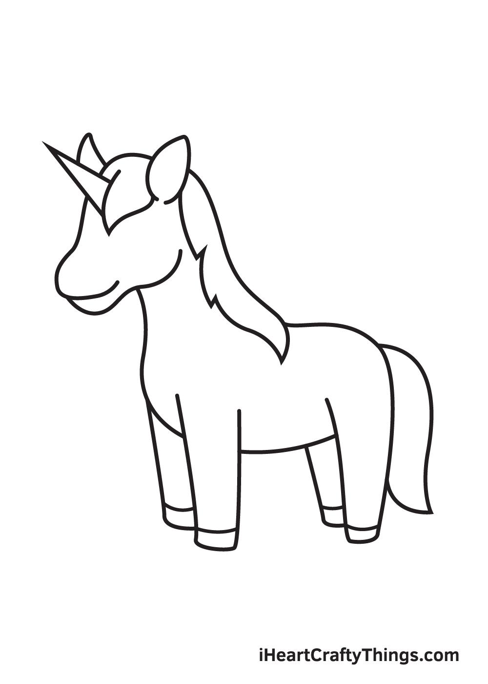 unicorn drawing step 8