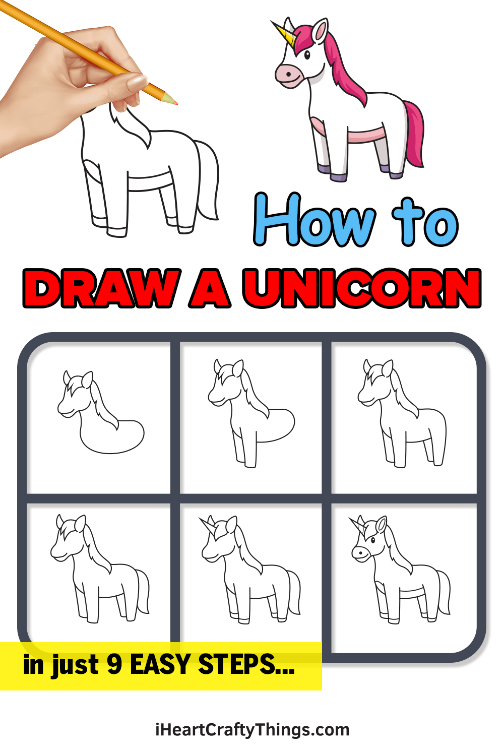 how to draw a unicorn in 9 easy steps