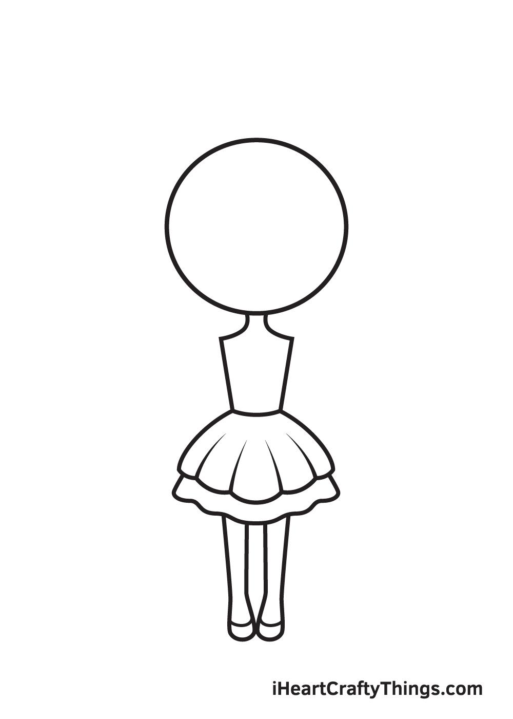 unicorn girl drawing step 5